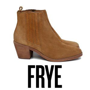 Frye Alton Chelsea Suade Size 7.5 Ankle Booties